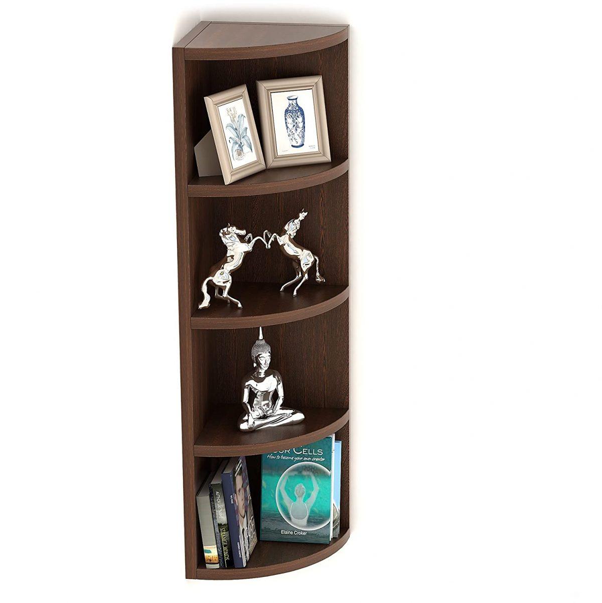 Tier Corner Wall Decor Shelf/Display Rack (5 Shelves)