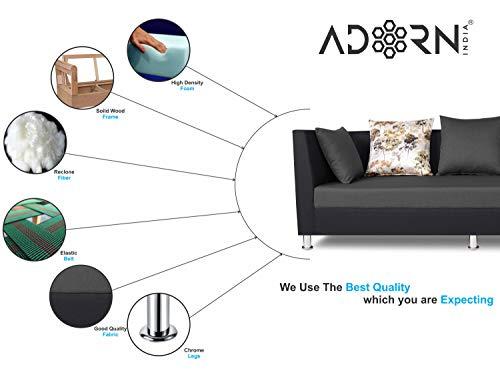 Adorn India Exclusive Two Tone Alica Modular Sofa Set (Dark Grey & Black)