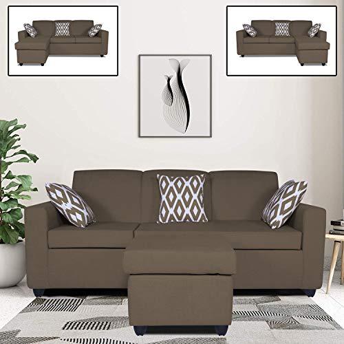 Adorn India Monteno Modular Sofa Set (Camel)