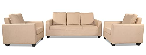 Adorn India Russell 3-1-1 Five Seater Sofa Set (Beige)