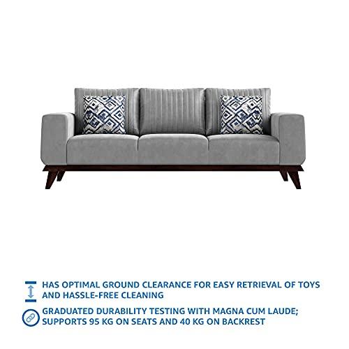 Amazon Brand - Stone & Beam Greenville Fabric 3 Seater Sofa (Grey)