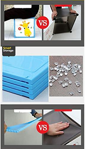 BALAR 4 Smart Storage Cabinet Wardrobe Storage Rack Closest Organizer for Clothes Kids Living Room Bedroom Small…