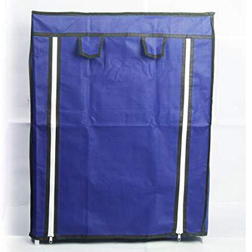Bae Metal Rack 4 Shelves 4 Mini Collapsible Clothes Wardrobe , Blue