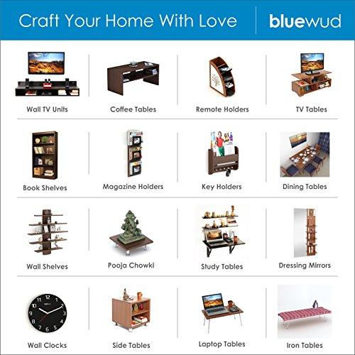 Bluewud Walten Engineered Wood Bookshelf/Display Rack (Wenge)
