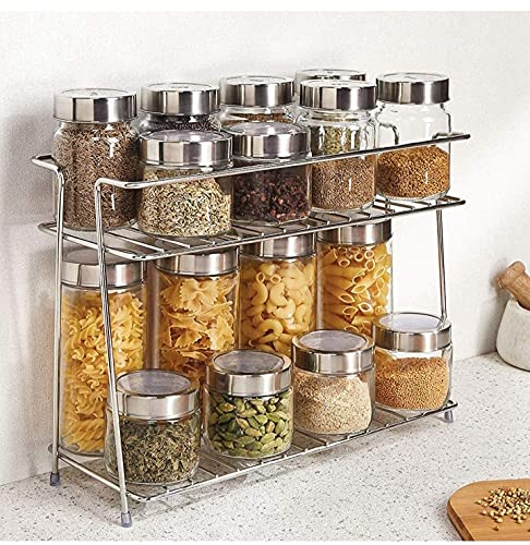 CR18 COLLECTION Stainless Steel Kitchen Rack, Kitchen Organizer and Space Saver, Counter top Stainless Steel Kitchen…