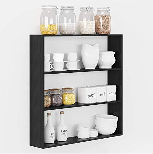 Dime Store Wooden Kitchen Shelf Racks Wall Shelf Rack for Kitchen Storage Boxes Spice Jars Rack Wall Mounted Kitchen…