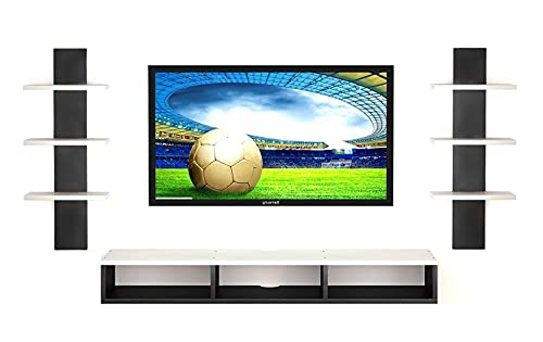 Dime Store Wooden Wall Mounted TV Unit, TV Cabinet for Wall, TV Stand for Wall, TV Stand Unit Wall Shelf for Living Room…
