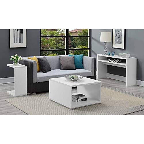 Heera Moti Corporation Depsa Wood Casual Box Coffee Table Sofa Centre Table for Living (Finish :-White pre-Laminated…