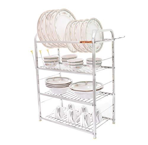 Home Creations 4 Layer 18 x 24 inch Kitchen Dish Rack/Kitchen Utensils Stand