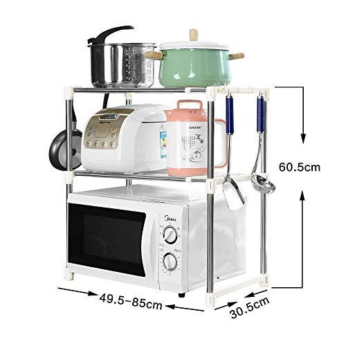 Kamini Enterprise Shelf Kitchen Cabinet Rack for Kitchen Utility Double Design Microwave Oven Stand Microwave Storage…