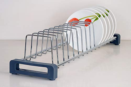 LAPO Stainless Steel Dish Stand for Kitchen (14 Sections)/Plate Stand/Utensils Holder/Dish Rack for Kitchen/Dining Table…