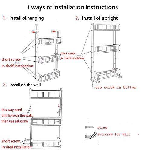 Livzing 4 Tier Adjustable Bamboo Storage Rack - Multipurpose Wooden Layer Kitchen Bathroom Organizer Shelves - Fridge…