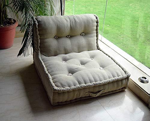 PRITI - Cotton Khadi Folding Lazy Sofa Pillow New Modular Sofa Floor Chair, Living Room Interior Home Decoration…