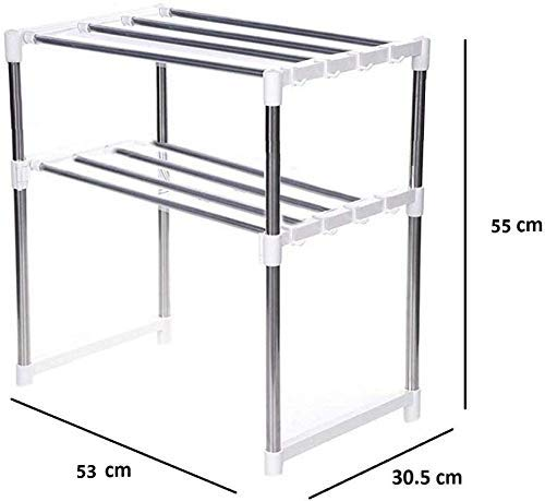 Quick Unbox Multipurpose Stainless Steel Oven Stand for Kitchen Organizer Racks Shelves for Microwave and OTG