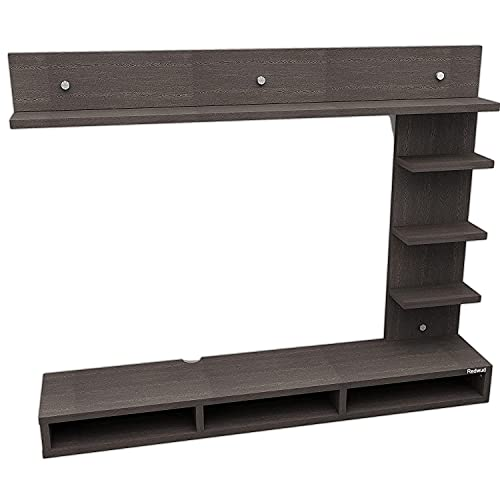 Redwud Parker Engineered Wood TV Entertainment Unit TV Cabinet with Wall Shelves Wall Mounted TV Unit TV Cabinet with…