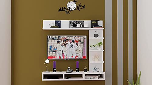 Redwud Ryder Engineered Wood TV Entertainment Unit TV Cabinet with Wall Shelves Wall Mounted TV Unit TV Cabinet with…