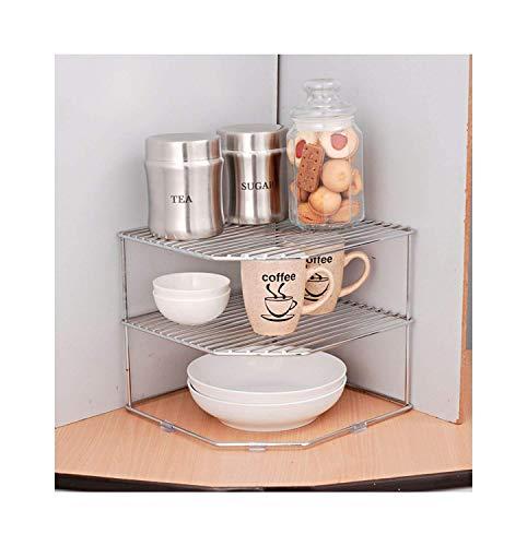 Unify Multipurpose Stainless Steel kitchen plate dish corner shelf rack stand shelves, storage cupboard, cabinet…