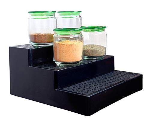 VHPL Plastic Glossy Home and Office Organizer Stand (Black)