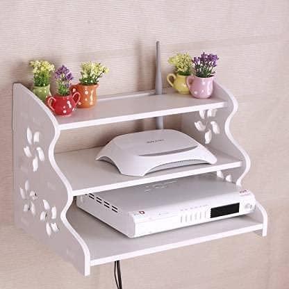 Yannik Retail TV Entertainment Wall Unit Engineered Wood, Wall Set-top Box Stand, Modern TV Cabinet, Living Room Storage…