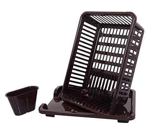 shreeji Home & Kitchen Care 3 in 1 Plastic Kitchen Dish Drainer Drying Rack Water Drip Washing Space Saver Storage…