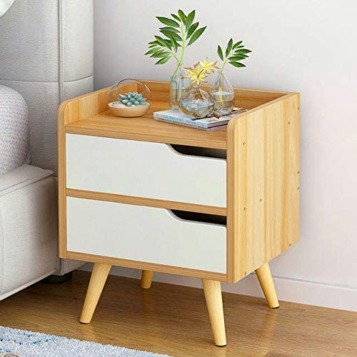 AAAA Tuba Art Solid Wood Bedside Table for Bedroom | Wooden Side End Table with 2 Drawers for Living Room ( Mango Wood…