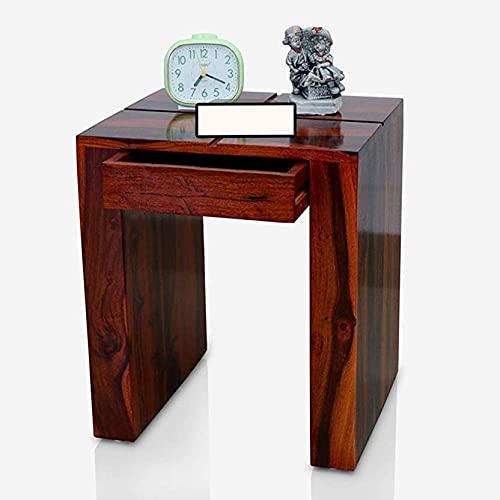 AJ Furniture Solid SHEESHAM Wood Bedside Table   Bedside Table for Living Room   Bedside Table for Bedroom   Bedside…