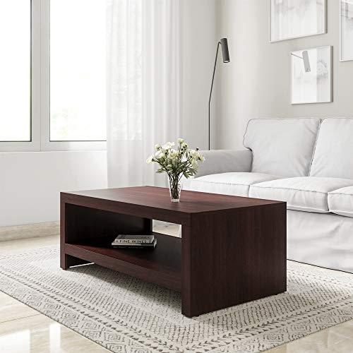 Amazon Brand - Solimo Capella Engineered Wood Espresso Finish Modern Coffee Table (Brown)