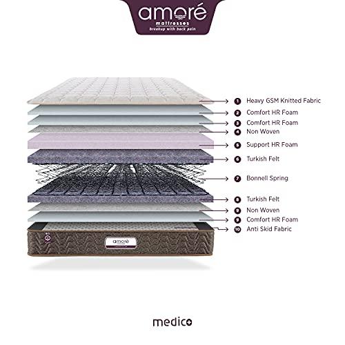Amore International Medico Eurotop 6 inch Bonnell Spring Mattress(72x66x6