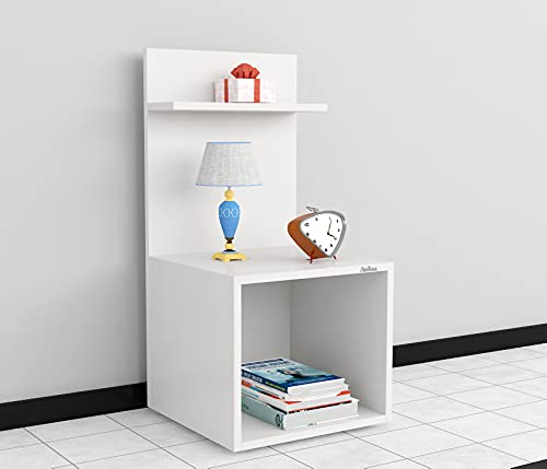 Anikaa Daxton Engineered Wood Bed Side Table/Sofa Side Table/End Table/Books Storage Organizer/Cabinet Shelves with…