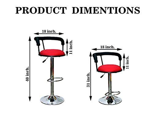 CH, COOL HOME Trendy Classic Height Adjustable Bar Stool/Kitchen Chair   Heavy Duty Joint Free Base   ISO Certified…