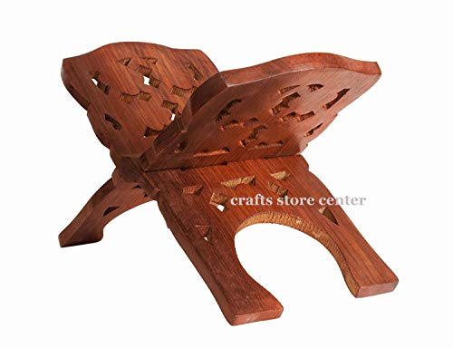 Crafts Store Center Book Stand Cover Case Wooden Holy Quran Bible Gita Office Home Decor Furniture