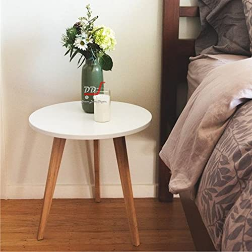 DDS Dream Decor Shoppee Foldable Round Shaped Side Table/Tea Coffee Breakfast Table (Engineered Wood ,White)