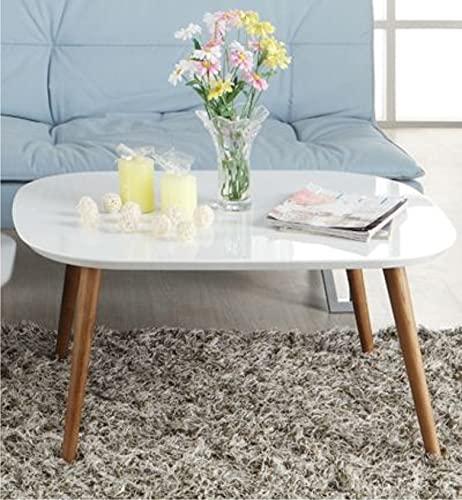 Dream Arts Shoppee Fold-able Rectangle Shaped Side Table/Tea Coffee Breakfast Laptop Table ( Wood,White )