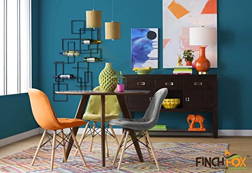 Eames Replica Cushioned Dining Chair/Cafe Chair/Side Chair/Accent Chair (Grey) Color by Finch Fox