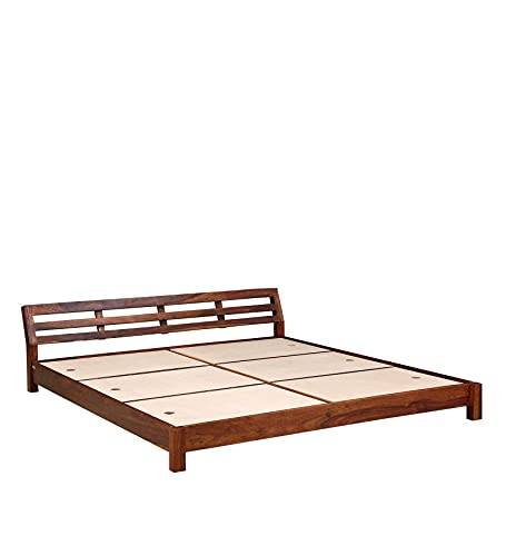 Fairmont Solid Wood King Size Bed in Honey Oak Finish