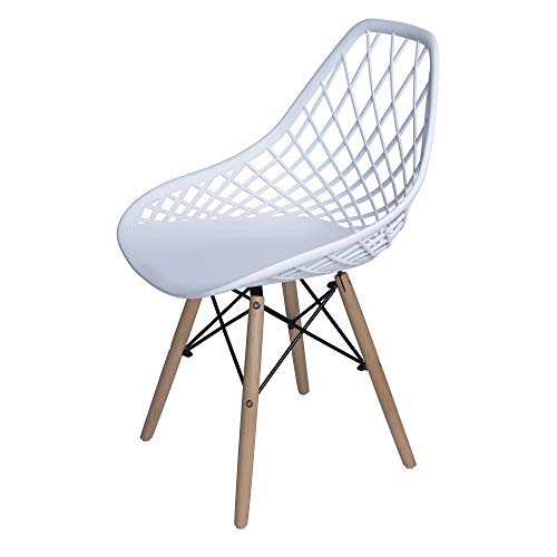 Finch Fox Modern Wooden Base with Polyurethane Seat Dining Chair (White)