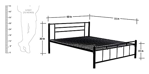 Lakecity Group Metallica Queen Size Without Storage Bed