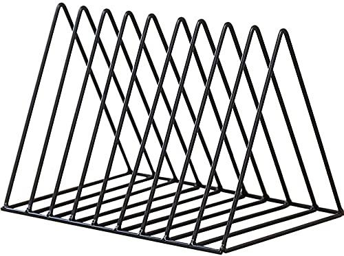 Lukzer Metal Stand 9 Slots Magazine Book Holder for Newspaper File Holding Home Cabin Desk Organizer (Black / 27 x 18 x…