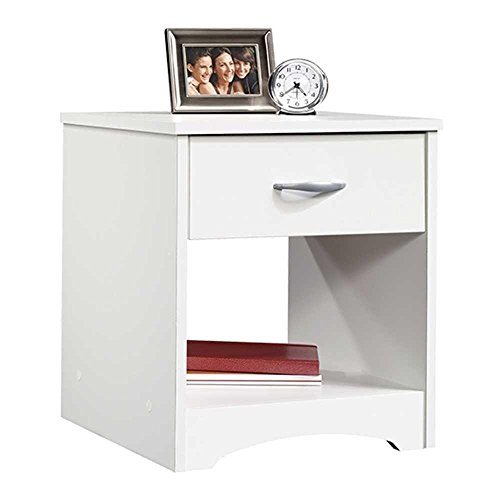 Modway Contemporary Bed Side Table (Wood,White)
