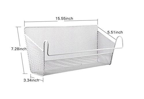 MosQuick Multipurpose Bedside Hanging Storage Basket, Dorm Bed Hanging Basket, Office Desk,Dormitory Iron Mesh…