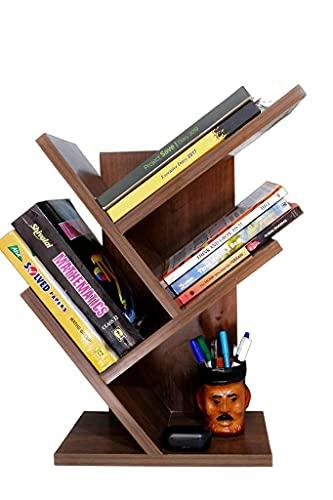 NB Crafted Bookshelf Space-Saving Floor Standing Book Shelf for Living Room/Study/Home/Office/bedroom/Table (Tree Shelf)