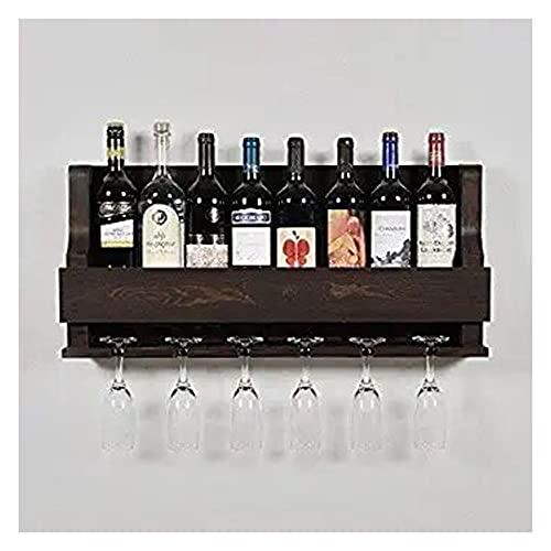 OGNIJA Wooden Wall Hanging Design Bar | Bar Cabinets for Home | Mini Bar for Home | Solid Wood Make Wine Storage Cabinet…