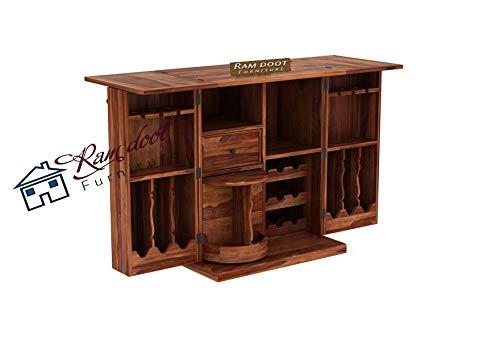 Ramdoot Furnituree Solid Sheesham Wood Bar Cabinet Rack Storage Cabinets Sheesham Wood Furniture Wine Wisky Scotch All…