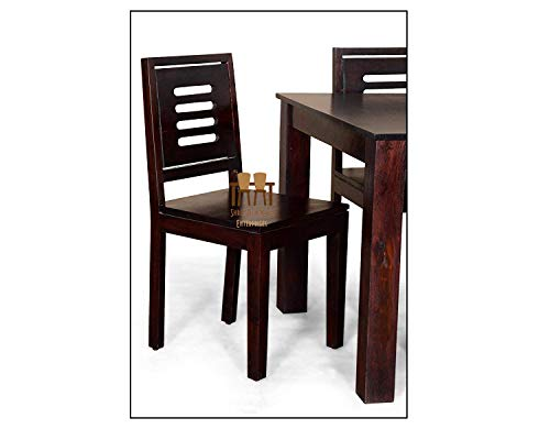 Shree Jeen Mata Enterprises Wood Wooden Dining Table with Chairs   Home and Living Room   Teak Finish   Brown   Sheesham…