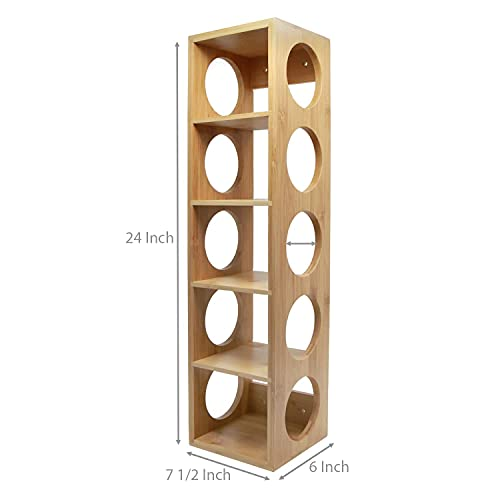 Timberly Bar Cabinet   Wine Rack with 5 Bottle Stacking Capacity for Living Room,Bed Room and Garden- Solid Wood…