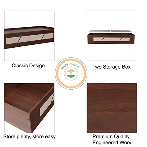 Trevi Native Engineered Wood Single Day Bed with Box Storage - Brown