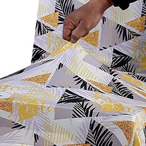 YUKU Printed Dining Chair Covers Elastic Chair Seat Case Protector, Slipcover (1 Piece) (Multicolor-2, 1)