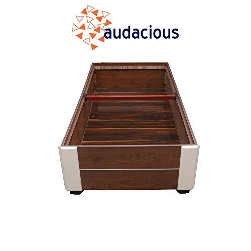 audacious Single Engineered Wood Divan Bed With Storage -(Glossy Finish_Nayka Teak)